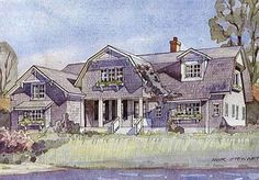 Looking for the best house plans? Check out the Bayside Classic plan from Coastal Living. Dutch Colonial Homes, Colonial House Plans, Southern Living House Plans, Country House Plans, Best House Plans, Dream House Plans, Modern House Plans, House Floor Plans, Dream Houses