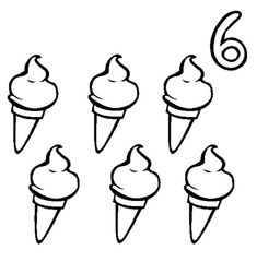 Six Ice Cream Cone Coloring Pages : Bulk Color Ice Cream Coloring Pages, Summer Coloring Pages, Truck Coloring Pages, Coloring Pages To Print, Coloring Pages For Kids, Coloring Sheets, Ice Cream Pictures, Numbers Preschool, Online Coloring
