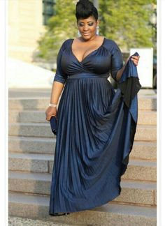 Blue plus size formal dress. Perfect for me!