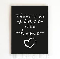 There S No Place Like Home Theres Quote Print Laminas