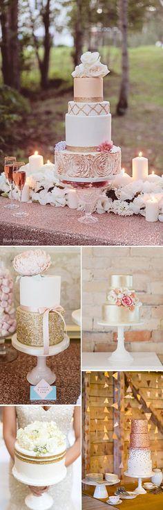 La Tarta de Boda PERFECTA. Tartas de boda glam con purpurina