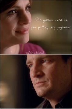"""I've gotten used to you pulling my pigtails."" Season 2 episode 13 'Sucker Punch'. Haha this one's very old, but I was watching this episode again and I thought I really had to make an edit. #caskett #castletvshow #rickcastle #katebeckett #caskettinearliertimes #i'vegottenusedtoyoupullingmypigtails"