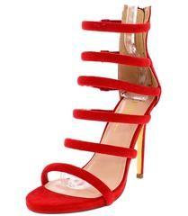 73025464de1 DONNIE RED SUEDE STRAPPY OPEN TOE STILETTO HEEL - Wholesale Fashion Shoes  Wholesale Fashion Shoes
