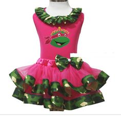"NINJA TURTLE PRINCESS TUTU SET  Price $44.99 Options: 2T, 4T, 6 To purchase, comment ""Sold"", size & EmaiL"