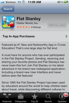 Flat Stanley app