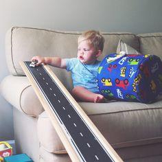 DIY car ramp for kids