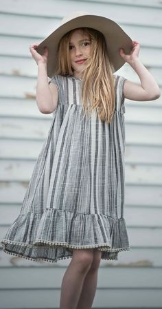 Vintage inspired girls dress