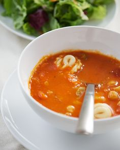 Minestrone Soup with Cheese Tortellini