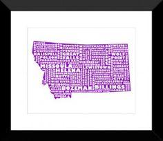 Montana Print - MapMyState.com