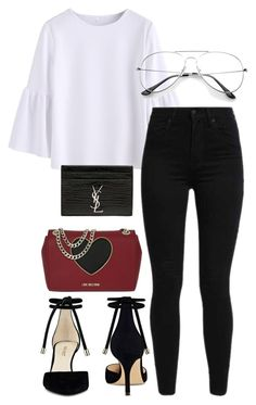 """Untitled #68"" by franciscanunes on Polyvore featuring Love Moschino, Yves Saint Laurent, Levi's and Nine West"