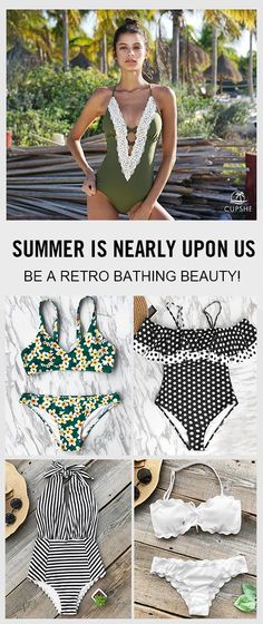Once the weather gets warmer your mind fills with fantasies of lounging by the pool or sipping a cool drink on the beach, and in each of these daydreams you're always wearing a fabulously retro swimsuit!