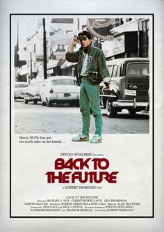 Back to the Future (1985) - Alternative Movie Poster by Owain Wilson ~ #alternativemovieposter #owainwilson