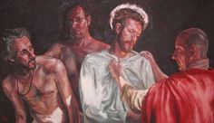 Rob Floyd Fine Art - Stations of the Cross, Christ is Stripped of His Garments (Tenth Station)96cm x 167cm