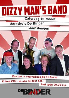 A3 poster Dizzy Man's Band in MFC de Binder.