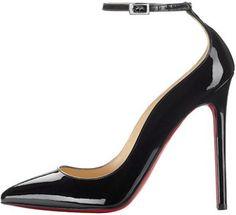 Black Christian Louboutin Suede and Crystal Decorapump 160 Heels