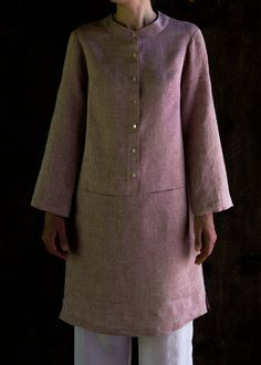 Merchant & Mills' Union Dress in Watercolor Linen | Purl Soho