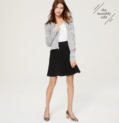 Pebbled Flippy Skirt | Loft