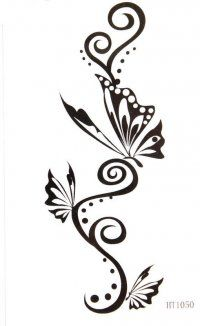 mother+and+son+symbol+tattoos | Hot selling Waterproof black tattoo stickers totem butterfly totem