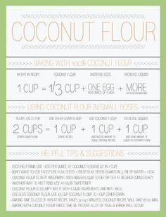 How to substitute in coconut flour
