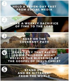 #PresNelson boldly urged every young woman and young man to enlist in the Lord's youth battalion to help gather Israel, challenging them to: 1. Hold a seven-day fast from social media. 2. Make a weekly sacrifice of time to the Lord (three weeks in a row). 3. Do a thorough life assessment to keep on the covenant path. 4. Pray daily that all of God's children might receive the blessings of the gospel. 5. Stand out. Be different from the world. Be a light. #LDSYouthDevo; #ShareGoodness