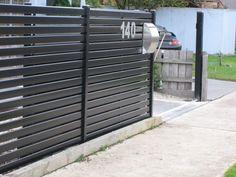 Gate, garage, fence.