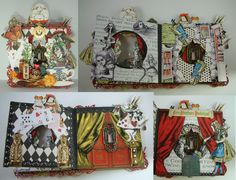 Artfully Musing: Handmade Books - Alice in Wonderland Tunnel Book (image 2 of 2)