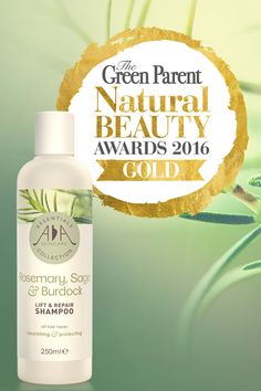 We've just heard our AA Skincare Essentials 'Rosemary, Sage & Burdock Lift & Repair' natural shampoo has scooped the Gold award in the 'Best Shampoo' category in this year's prestigious Green Parent Natural Beauty Awards 2016.  To celebrate we are offering customers 20% off throughout July!   Order now - http://www.aaskincare.co.uk/ourproducts/hair-products/rosemary,-sage-burdock-lift-repair-shampoo-detail   #GoldAward #Winner #NaturalBeautyAwards #GreenParent #Shampoo #NaturalShampoo
