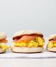 Creme Fraiche Scrambled Egg Sandwiches