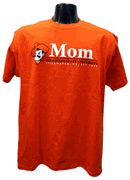 OSU Mom w/Pete T-shirt   Show YOUR pride in this 100%cotton t-shirt. Features Pistol Pete with an Oklahoma State bar design.