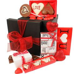 Valentine Chocolate Gift Box  www.eden4chocolates.co.uk Chocolate Gift Boxes, Valentine Chocolate, Gifts Delivered, Flowers Delivered, Delicious Chocolate, Chocolates, Bouquet, Gift Wrapping, Floral