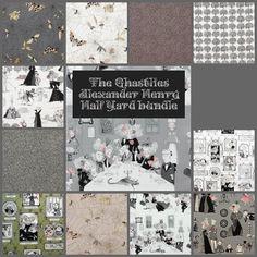 Ghastlie Half Yard Bundle - 13 prints - The Ghastlies  by Pink Door Fabrics, $65.00