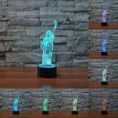 Statue of Liberty 3D Illusion LED Lamp