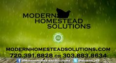 Modern Homestead Solutions, Rain Harvesting and Water Storage  We visit Modern Homestead Solutions at the 2017 Denver Home Show and learn about the Rain Harvesting and Water Storage Tanks they provide for the Colorado Front Range. The owner Spencer and his wife tell us all about the benefits of collecting and storing rain and how easy it is to do at your home. Long Term Water Storage, Water Storage Tanks, Garden Shop, Home And Garden, Internet Television, Denver City, Front Range, Help The Environment, Retail Shop