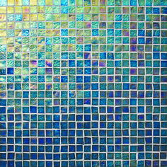 "Oceanside Glasstile...Collection Name: Facets...Color Name: Peacock Iridescent 059...Item Description: 1/2 x 1/2 Field...Square Feet Per Sheet: .96...Sheet Size: 11 3/4"" x 11 3/4""...Thickness: .24""...Sample Item Number: 123882"
