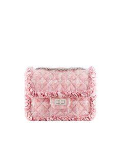 Tweed flap bag - CHANEL