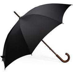 Brooks Brothers New Stick Umbrella ($60) ❤ liked on Polyvore