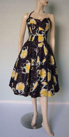 Années 1950 incroyable Alfred Shaheen coton par KittyGirlVintage