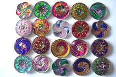 Handmade Czech Glass Buttons (Etsy ID: BUTTONSCZ2012)