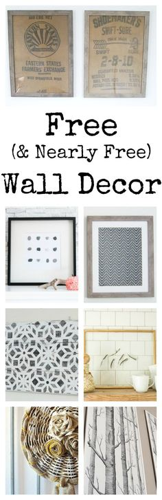 These ideas for free wall decor are incredible!!!