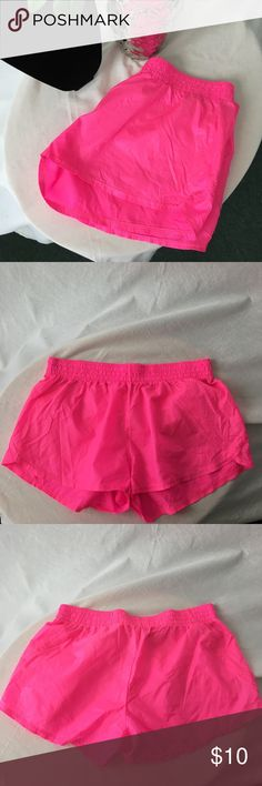 SOFFE Hot Pink Beach Shorts Super cute and perfect for summer! Gently used! The elastic waist is 16 inches across the front without stretching them! The length from the waist to the end of the shorts is 13 inches! Soffe Shorts