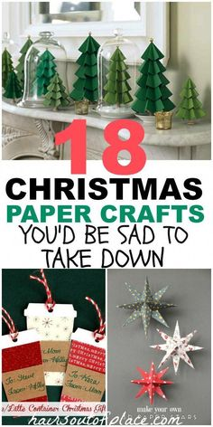 Christmas Paper Crafts ~ 18 DIY Inexpensive and Fun Project Ideas