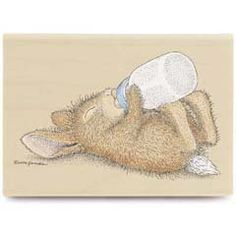 Sleepy Head - House Mouse HappyHoppers rubber stamps