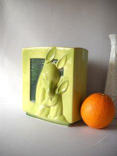 Vintage Vase Deer Planter Mid Century Ceramic by VintageEye, $28.00