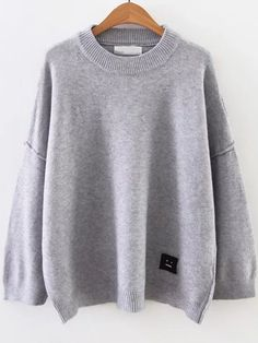 Shop Grey Face Patch Drop Shoulder Sweater online. SheIn offers Grey Face Patch Drop Shoulder Sweater & more to fit your fashionable needs.