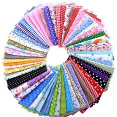 Random Color Cotton Fabric Printed  Patchwork Bundle For Sewing Fat Scrapbooking Pattern 10x10cm 50g/Lot