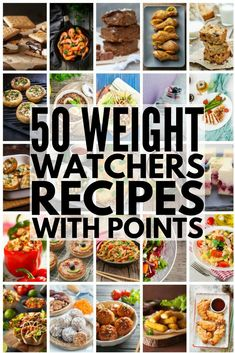 Simple Weight Watchers meals with points to make your weight loss plans easy & delicious! We've rounded up 50 fabulous meals for breakfast, lunch, dinner & dessert, with a few appetizers for good measure! Each recipe includes the total points (or SmartPoints, where applicable) & we've included a wide variety of ingredients (chicken, ham, vegetarian) as well easy make ahead & crockpot options to make weight loss as easy as can be. #weightwatchers #weightloss #healthyrecipes #weightlossrecipes