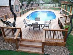 Cozy Decorating Pools Deck Plans Above Ground