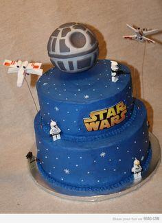 StarWars Cake make death star on black cake with stars. Topper?