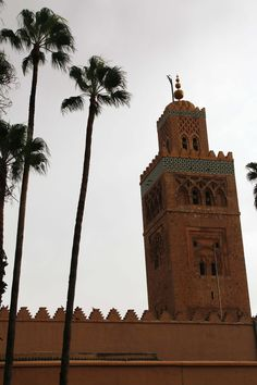 Koutoubia en Marrakech, Marruecos. Visita mi página web para leer mis aventuras en Marruecos: https://unachicatrotamundos.wordpress.com/2016/08/03/marrakech-una-ciudad-de-colores-y-especias/