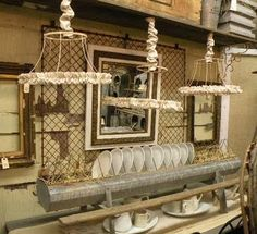 Love the lampshades!!!! Maybe I could alter my lights over the island to look like this!